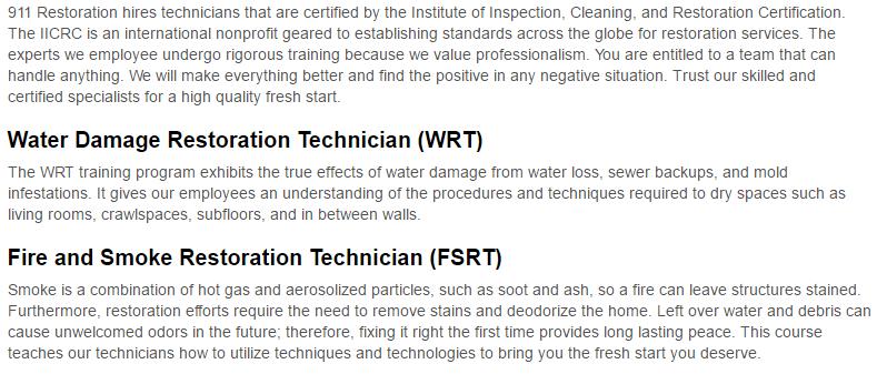 911 Restoration of Albuquerque Certification Page