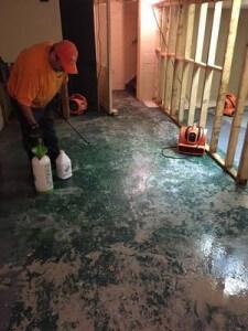 Water Damage Restoration Of Concrete Flooring